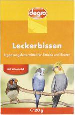 Leckerbissen für Sittiche & Exoten
